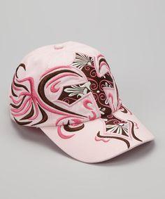 6057bf5f110 Loving this Blazin Roxx Pink   Brown Embroidered Cross Baseball Cap on