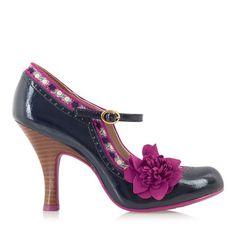 RUBY SHOO POPPY Mid Heel Court BLUE