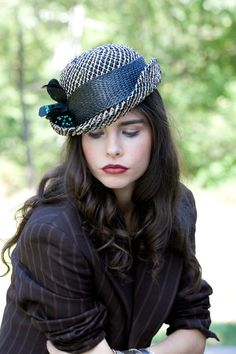 flower bowler hat by alatete on Etsy, $185.00