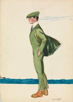 Edward Hopper - Parisian Man Smoking