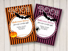 Halloween party invitations / Invitaciones de fiesta de Halloween invitaciones por BSNPartyArt