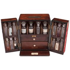 Antique Apothecary Box | From a unique collection of antique and modern apothecary cabinets at https://www.1stdibs.com/furniture/storage-case-pieces/apothecary-cabinets/