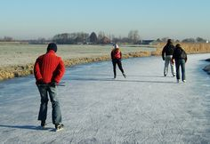 Winter in waterland Nederland