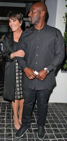 Kris Jenner and boyfriend Corey Gamble leave dinner at Cecconi's restaurant in West Hollywood on Thursday.