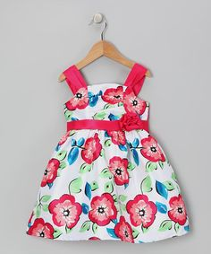 Take a look at this Pink & Blue Floral Hello Gorgeous Dress - Infant, Toddler & Girls by Longstreet on #zulily today!