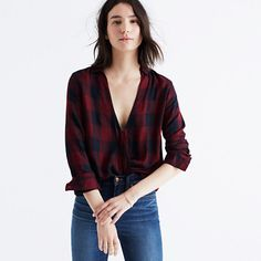 Made of a special soft and drapey weave, this buffalo-check popover has as an artful crossover neckline for a look that only appears to be the work of a stylist (aka no tuck-in required). <ul><li>True to size.</li><li>Rayon.</li><li>Hand wash.</li><li>Import.</li><li>Select stores.</li></ul>