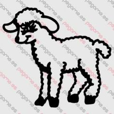 Pegame.es Online Decals Shop  #animal #kids #sheep #vinyl #sticker #pegatina #vinilo #stencil #decal