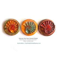 Iris Mishly's Cosmic Ceramic tutorial & My Fossil Stamps