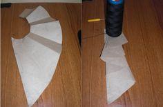 DIY........JABOT,UNDER THE COLLAR DETAIL