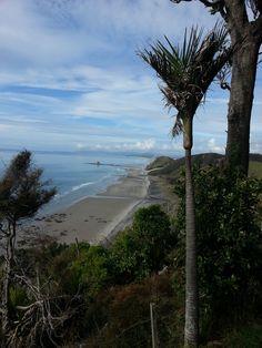 Mangawhai cliff top walkway Walkway, Cliff, Cottages, Beach, Water, Top, Outdoor, Sidewalk, Gripe Water