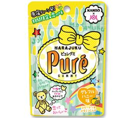 Pure - Harajuku - Honey Grapefruit - Harajuku themed candy from Kanro's Pure range! This is a very limited edition of one of Oyatsu Cafe's bestsellers and two different kawaii flavors are available now! Get yours at OyatsuCafe.com