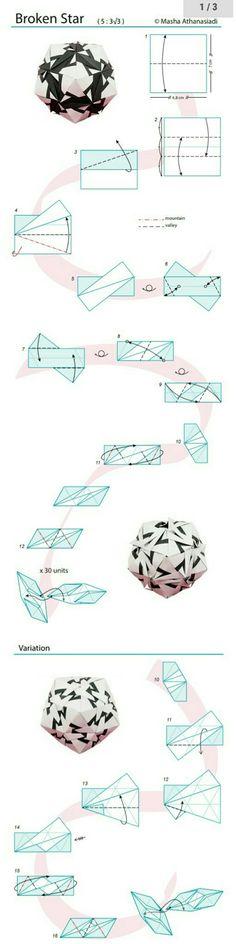 Origami Cube, Origami And Kirigami, Origami Ball, Modular Origami, Origami Folding, Paper Crafts Origami, Cardboard Crafts, Origami Instructions, Origami Tutorial