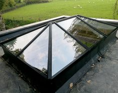 Exact Aluminium Roof Lantern and Exact Flat Glass Roof Light in Ringwood Lantern Roof Light, Sky Lanterns, Roof Architecture, Concept Architecture, Kitchen Orangery, Steel Roofing, Tin Roofing, Roofing Shingles, Garden Room Extensions