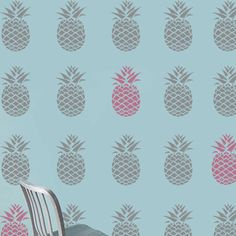 Pineapple stencil,pineapple décor, painting stencil, wall stencil, large wall stencil, decoration  stencil