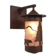 Steel Partners Bear Pasadena 1 Light Outdoor Wall Lantern Shade Color: Amber Mica, Finish: Rust