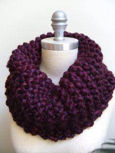 Zanzibar Purple Chunky Infinity cowl Scarf Shawl Cape on Etsy, $50.00