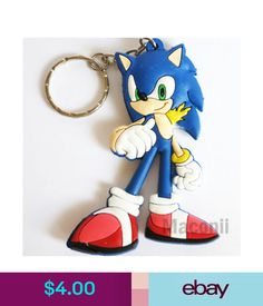 Other Toys Sonic The Hedgehog Rubber Keyring Video Game Wreck It Ralph Phone Charm
