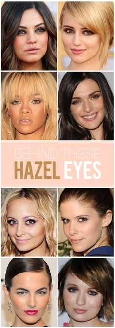 Hazel eye makeup guide.