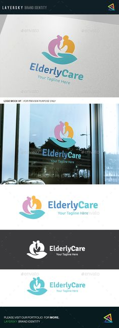 Elderly Care Logo Template Vector EPS, AI. Download here: http://graphicriver.net/item/elderly-care-logo/14209389?ref=ksioks
