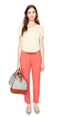 stripes + tangerine! Madewell spring '12