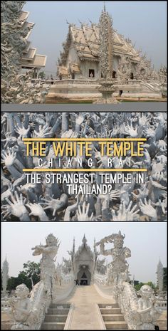 The surreal white temple in Chiang Rai, surely the strangest temple in Thailand!