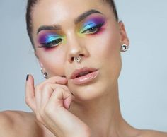 Its pride week in Stockholm so I did a rainbow look :) lindahallberg.com #fotd #makeup