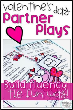 Valentines Day reading activity readers theaters for the elementary classroom. Fun partner play activity for fluency on Valentines Day!