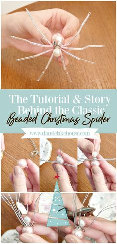 Click through to learn How to Make Beaded Christmas Spiders! I'm sharing my DIY Christmas spider tutorial with supplies list and step-by-step photos, plus I'm sharing The Christmas Spider Legend! Find out why every tree needs a Christmas spider ornament. You'll love the Christmas spider story and will want to make this DIY Christmas spider ornament for everyone you know. #christmasspider #beadedspider #spiderornament