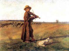 """Józef Marian Chełmoński(1849-1914), """"Owczarek"""", 1897,"""