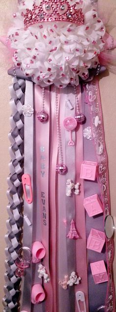Trendy Ideas baby shower ideas for girls decorations pink diy hospital door Baby Shower Mum, Baby Shower Princess, Baby Shower Gifts, Princess Theme, Girl Decor, Baby Decor, Baby Shower Decorations, Baby Room Curtains, Trendy Baby Girl Clothes