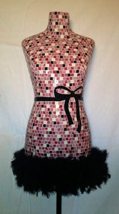Mosaic Mannequin Emma Rose by chutneyblakedesigns on Etsy Mannequin Display, Mannequin Art, Dress Form Mannequin, Mosaic Art, Mosaic Glass, Mosaic Tiles, Glass Art, Emma Rose, Baubles And Beads