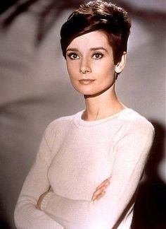 Audrey. Poofy back short hair idea.