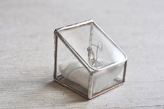 NEW Stained Glass Ring Holder  Hinged  Glass by ABJglassworks, $58.00