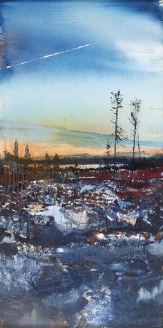 Lars Lerin (Swedish, b. 1954), Utöver Älgsjön, 2001. Oil on canvas, 220 x 109.5 cm.