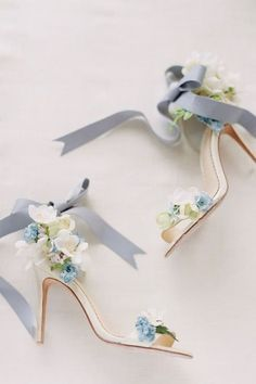 Boho Wedding Shoes, Wedding Shoes Heels, Wedding Dress Accessories, Floral Wedding, Wedding Day, Blue Wedding, Bridal Shoes, Wedding Rings, Wedding Dresses
