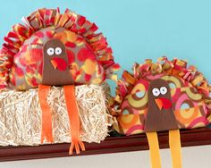 Stuffed Turkey Kids Craft  Perfect for Thanksgiving day activities. Kellan can make one for Belle and Liam, with a little help, can make his own.