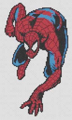 SpiderMan Cross Stitch Pattern ONLY by GeekStitchSK on Etsy, $5.00
