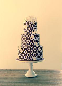 Cupcake Cakes, Cupcakes, White Cakes, Cakes And More, Beautiful Cakes, Cake Designs, Wedding Cakes, Stencils, Design Ideas