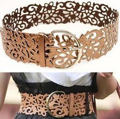 Promotion, 2014 New wide fashion explosion models noble hollow belts Women's Belts, free shipping-in Belts & Cummerbunds from Apparel & Acce...