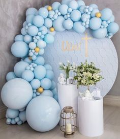 Cinderella Invitations for wedding Quinceañera sweet sixteen or any other event Baptism Party Decorations, Balloon Decorations, Baby Shower Decorations, First Birthday Balloons, Baby Boy 1st Birthday, Boy Baby Shower Themes, Baby Shower Balloons, Christening Balloons, Deco Ballon