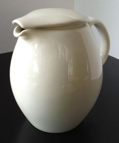 Iroquois Casual China by Russel Wright White Covered Pitcher | eBay