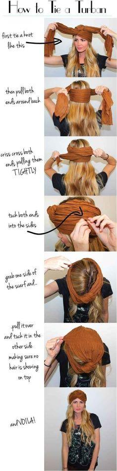 13. #turban - 16 magnifiques #Styles de cheveux pour #filles paresseux #comme moi... → Hair