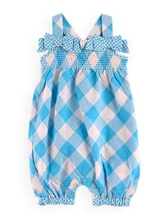 cotton gingham dungaree