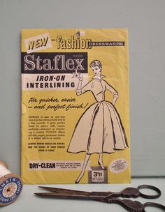 Vintage Sewing Supplies 1950s Staflex by sewmuchfrippery on Etsy