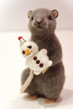 Realistic Needle felted rat MADE TO ORDER Exclusive by ViKoToys