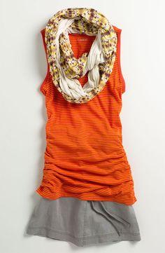 Orange and scarf