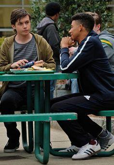 Keiynan Lonsdale and Nick Robinson in Love, Simon (2018)