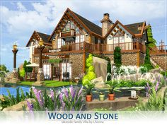 Warm and comfy family villa. Mountain style and lake right on the doorstep make this house excellent as a holiday lodge for big families. Found in TSR Category 'Sims 4 Residential Lots' The Sims 4 Lots, Sims 4 House Design, Sims Building, Sims 4 Toddler, Mountain Style, Sims 4 Build, Outdoor Retreat, Hobbies And Interests, Sims Community