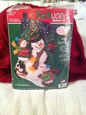 "Christmas Felt Applique Holiday Stocking Kit,SNOWMAN FUN,Trainer,Size 18"",NIP Christmas Stocking Kits, Felt Christmas Stockings, Felt Applique, Nativity, Snowman, Holiday, Fun, Ebay, Vacations"