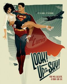 Awesome vintage style Superman poster -